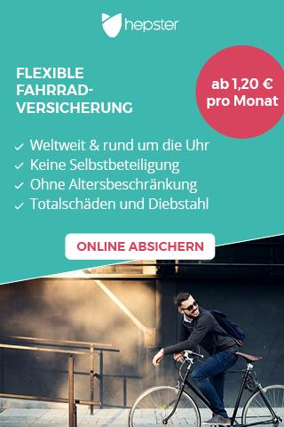 hepster Fahrrad-Versicherung jetzt online abschließen