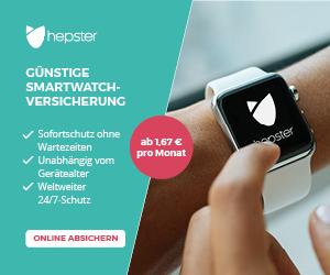 hepster Smartwatch Versicherung online abschliessen